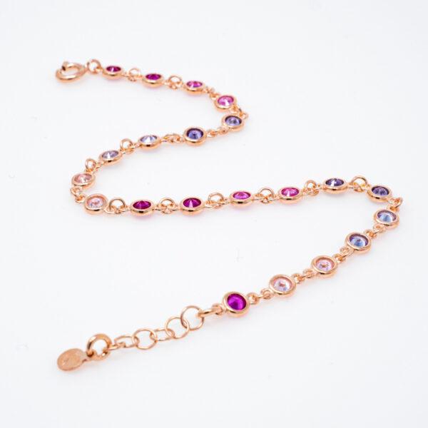 bracciale argento rosato