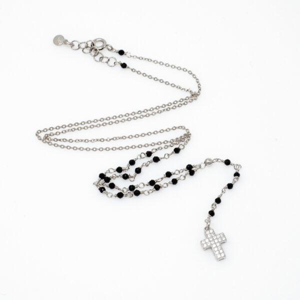 collana rosario in argento