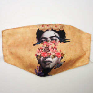 Mascherina Frida Kahlo gold flower