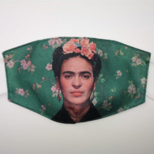 Mascherina Frida Kahlo green flower