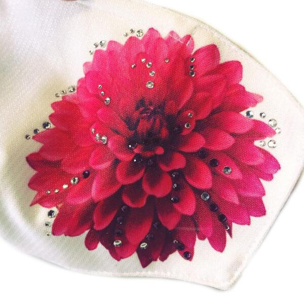 mascherina flower strass